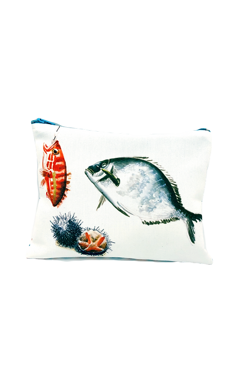 Pochette imprimée poissons