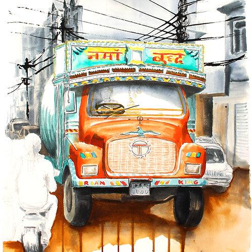 Carte postale bus népalais