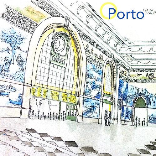 Carte postale gare Portugal