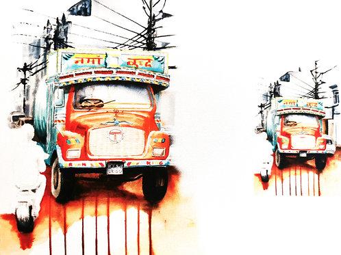 Masque camion Népalais