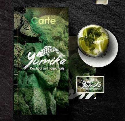 Identité visuelle du restaurant Yumika