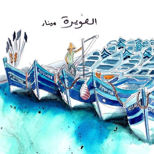 Carte bateaux Essaouira