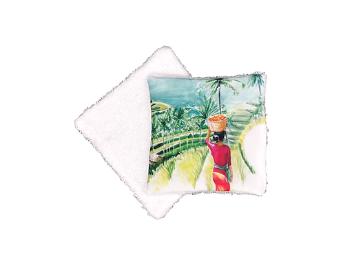 Lingette réutilisable rizières