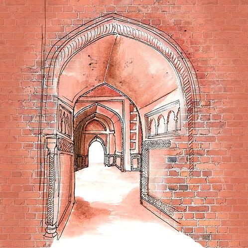 Carte Porte Rouge Taj Mahal Inde