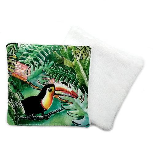 Lingette réutilisable -Toucan