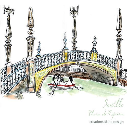 Carte Seville Espagne