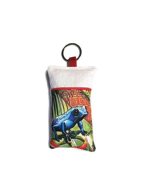 Porte-clef grenouille tropicale