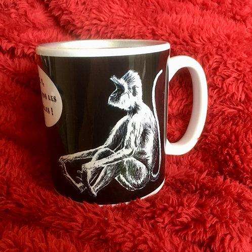 Mug en céramique - le singe du sri Lanka