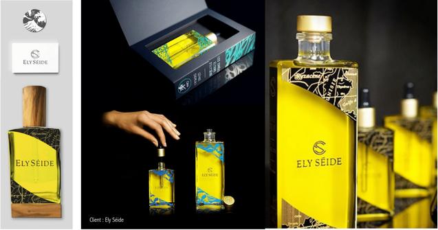 Création de logo, carte de présentation et graphisme des médaillons parfumés d'Elyséide.