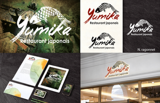 Identité visuelle du restaurant japonais Yumika.