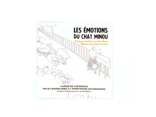 Carnet de coloriage les émotions du chat minou (Souribus)