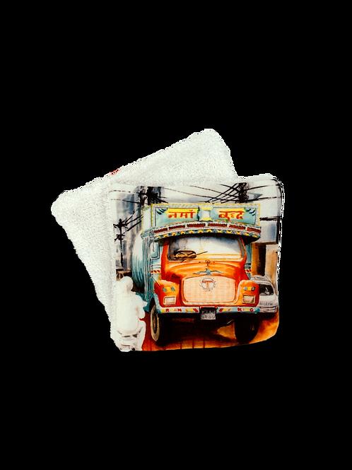 Lingette réutilisable - Camion