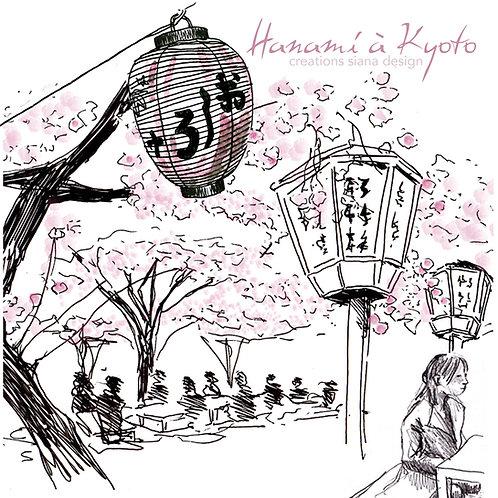 Carte Hanami Japon