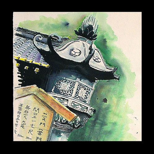 Carte postale Japon sculpture