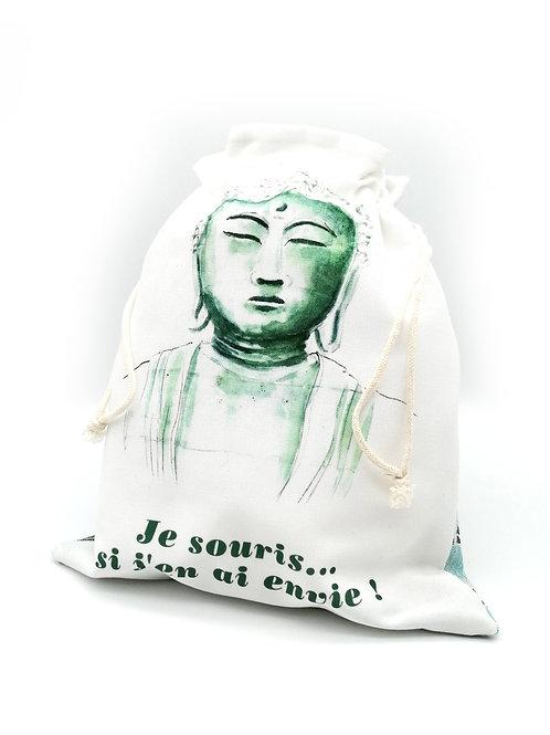 Pochon imprimé Bouddha