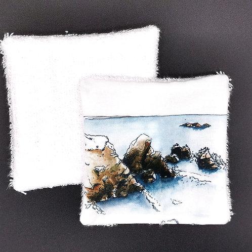 Lingette réutilisable l'océan