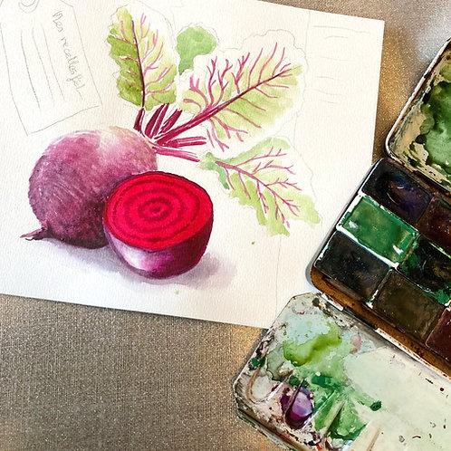 Cours en ligne Dessinez les légumes