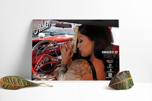 Autographed Aieko Pistol Poster