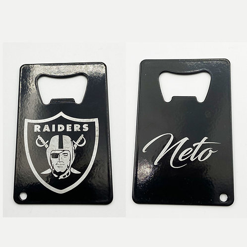 Credit Card Sport Bottle Openers (with your name on back)