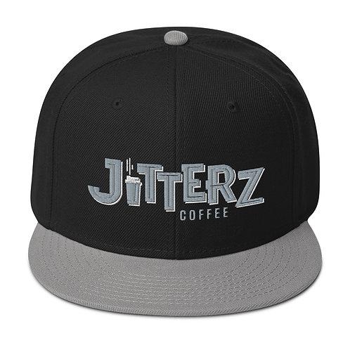 Jitterz Black and Gray Snapback Hat