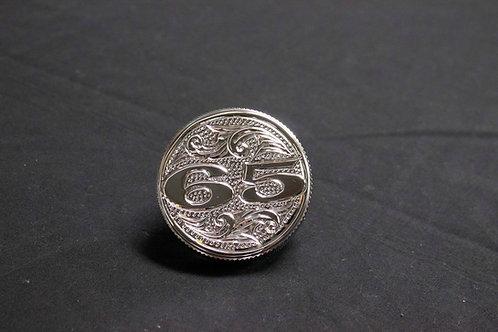 Hand Engraved #65 Radiator Cap
