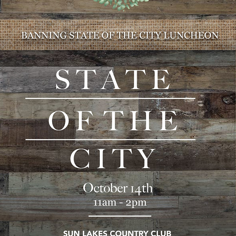 Banning State of the City