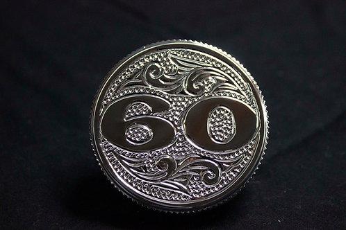 Hand Engraved #60 Radiator Cap