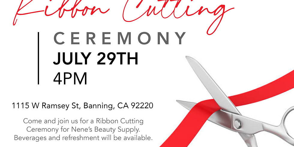 Ribbon Cutting Ceremony - Nene's Beauty Supply