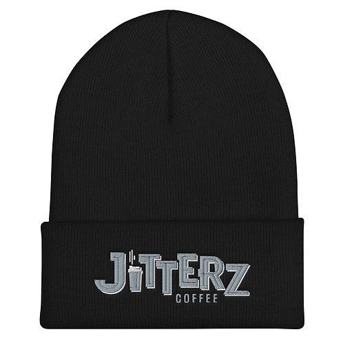 Jitterz Black and Gray Cuffed Beanie