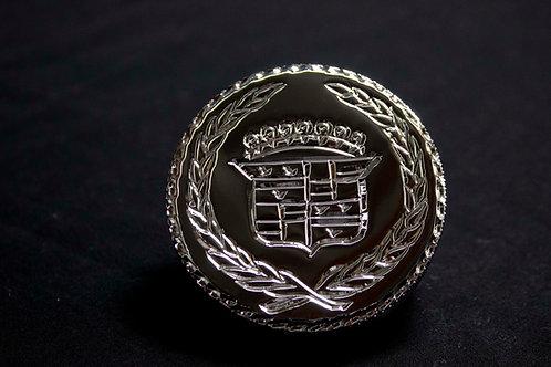 Hand Engraved Cadillac Radiator Cap w/ Diamond Cut Edges