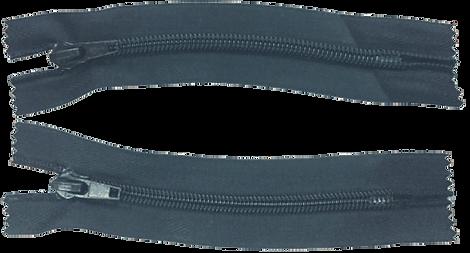 Застежка-молния с термофиксированным радиусом изгиба, с неразъемным оплавленным нижним ограничителем