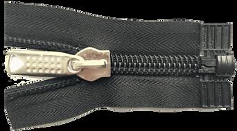 Застежка-молния разъемная с нижним ограничителем в виде пластмассовой коробочки тип 10
