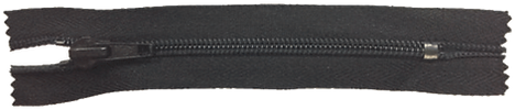 Застежка-молния неразъемная с металлическим ограничителем тип 5