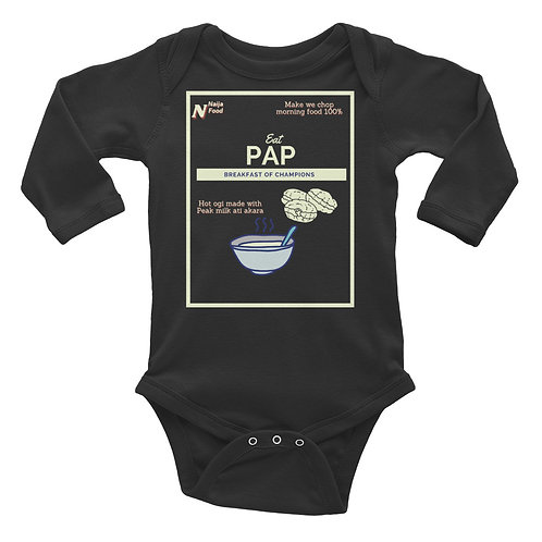 Eat PAP Infant Long Sleeve Bodysuit