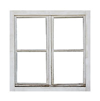Old wooden window on white background.jp
