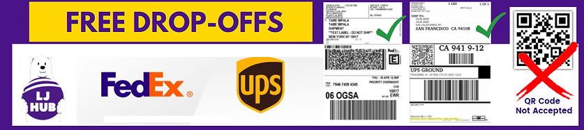 LJ HUB Dropoff FedEx UPS Amazon.png