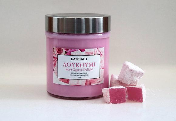 ΛΟΥΚΟΥΜΙ Rose Cyprus Delight Candle