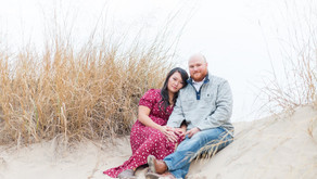Betty and Matt | A Fall Beach Engagement | Sheboygan, WI
