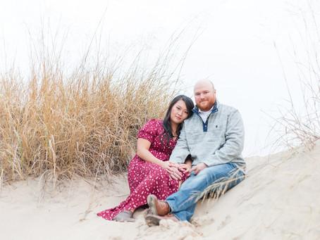Betty and Matt | A Fall Beach Engagement | Sheboygan, WI