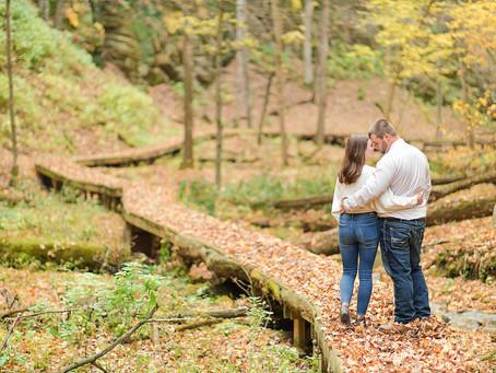 Bridget & Richard | FALL in love at Mitchell Glen | Green Lake, WI