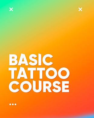 Basic Tattoo Course - Learn It Like Aliens