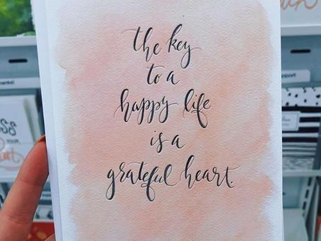 I am grateful for....