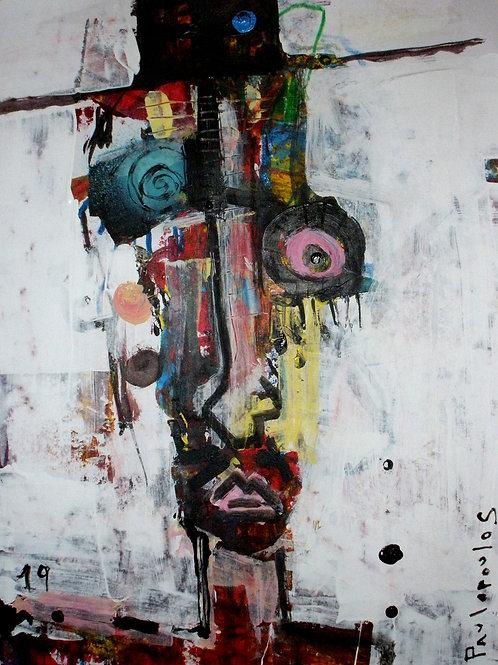 Contemporary art Escucho violetas