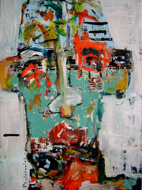 Abstract portrait I exist only disguised #1