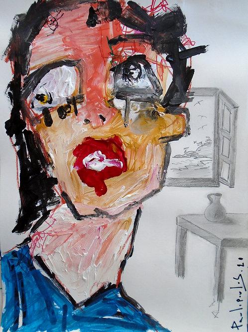 Abstract portrait corazon