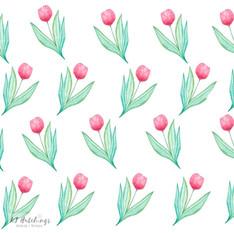 pattern design - tulips