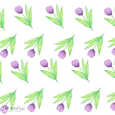 pattern design - purple tulips
