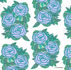 pattern design - lilac roses