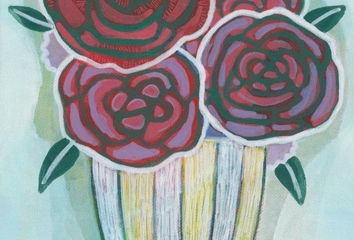 Roses in a vase