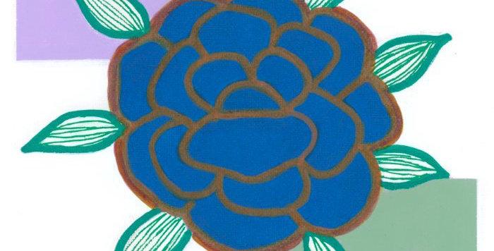 Dark Blue Bloom